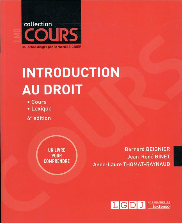 INTRODUCTION AU DROIT   6EME EDITION